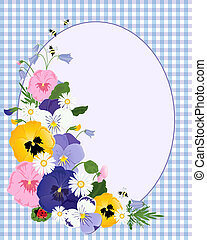 pansy border - an illustration of an arrangement of pansy...