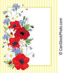 wildflower border - an illustration of an arrangement of...