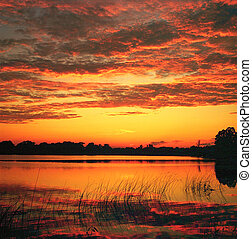Sunset on Cantlin Lake - An inspiring sunset on Cantlin Lake...