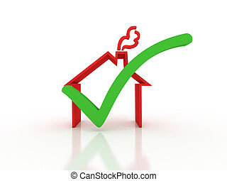 Home inspection. Success metaphor. Image contain clipping...