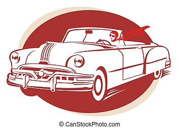 oldcar - old car illustration