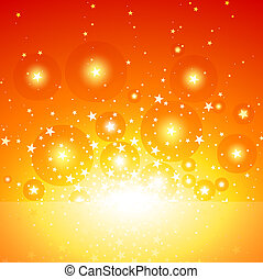 Star Burst - Exploding Star Background, Vector Illustration