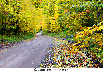 Bend in Dirt Lane Backroad - Quiet backroad of Upper...