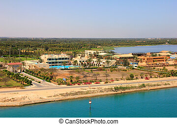 Suez Canal - Coastline of the Suez Canal, Africa