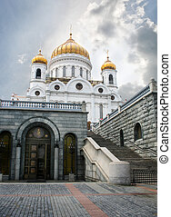 Temple of the Christ of the Savior in the centre of Moscow...