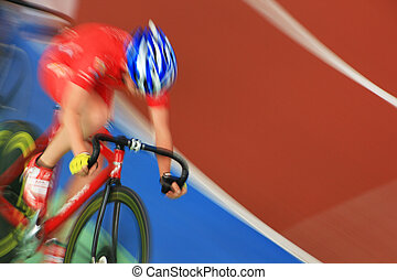 running at high speed cyclists