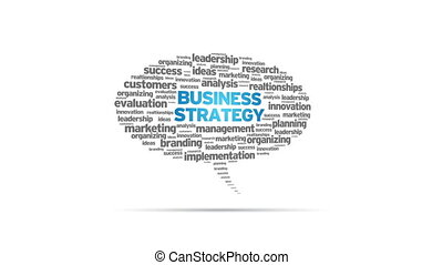 Business Strategy - Spinning animated Business Strategy...