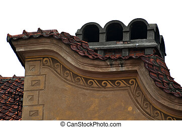 ornaments on roof of house
