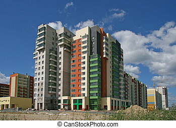 buildings - New beautiful under construction many-storeyed...