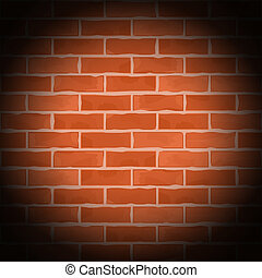 Old brick wall, vector eps10 illustration