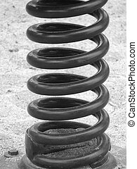 Spring has Sprung - Heavy duty coiled steel spring bolted to...
