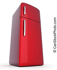 Fridge - A classic Fridge. 3D rendered Illustration.