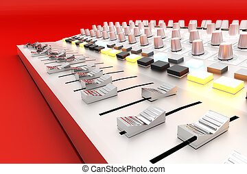 Mixing board - A Mixing board 3D rendered illustration