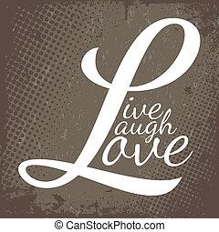 viver, riso, Amor