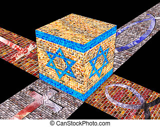 cube - A cube of precious golden stones