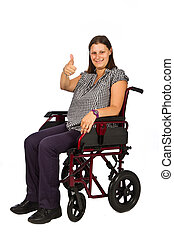 girl smiling in wheelchair - Cute young girl smiling in...