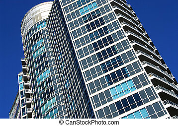 Modern condominium building - Architectural abstract of...