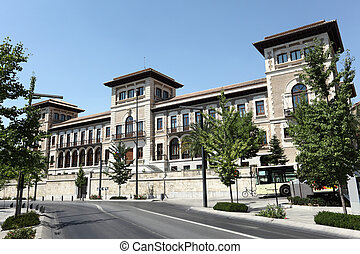 Building in the city of Granada, Andalusia Spain