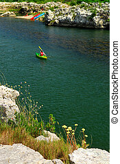 Kayaking in southern France