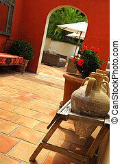 Courtyard of a villa