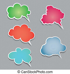 Speech bubbles - Collection of speech bubbles with drop...