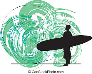 Surf. Vector illustration