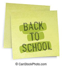 Back to school reminder. Vector illustration, EPS10