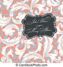 Vintage styled wedding invitation Vector illustration, EPS10...