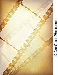 Vintage film strip background, vector illustration, EPS10