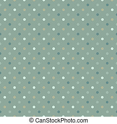 Seamless polka dot pattern in cold green gamut. Vector...