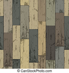 Wooden multi-color planks. Seamless pattern, vector...