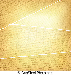Vintage torn pages background, vector, EPS10