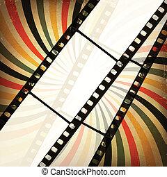 Grunge cinema background. Vector, EPS10