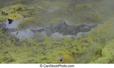 Vulcano fumarole close up 03 - Sulfurous fumaroles, Vulcano,...