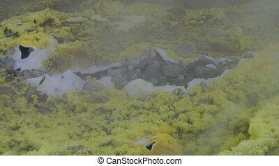 Vulcano fumarole close up 03 - Sulfurous fumaroles, Vulcano,...