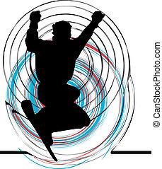 Skater illustration. Vector illustration