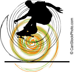 Skater illustration. Vector illustration