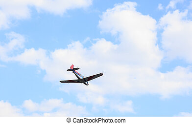 Aerobatics - View of aerobatics in the blue sky