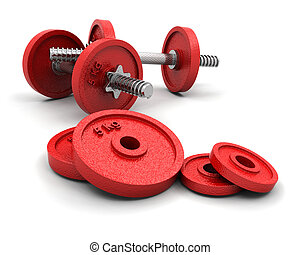 Weights - 3D render of weights