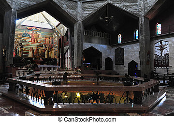 Travel Photos of Israel - Nazareth - The interior of the...