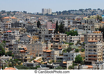 Travel Photos of Israel - Nazareth - General view of...