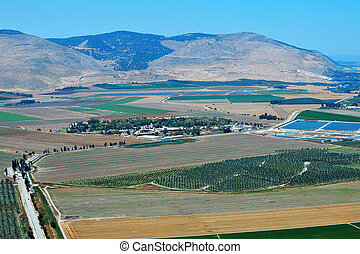 Travel Photos of Israel - Galilee - Aerial view of the...