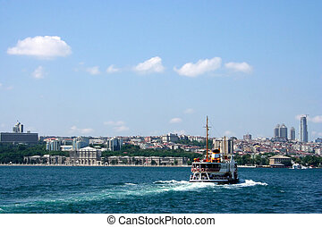 istanbul - ferryboat crossing the Bosphorus
