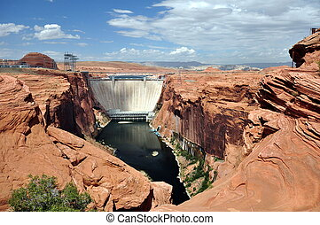 Hoover Dam on Colorado river, USA