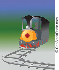 kids train - Illustration of beautiful mini train for kids