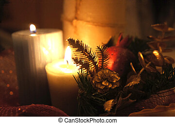 Christmas candle light - Candle light at Christmas night...