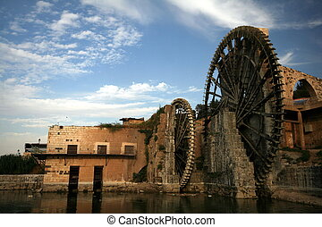 Hama water-wheel in Syria