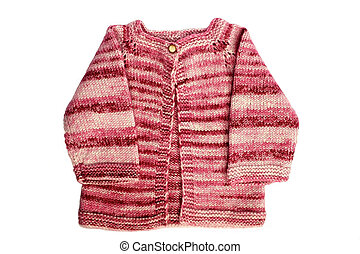 handmade baby cardigan - red colour wool handmade baby...