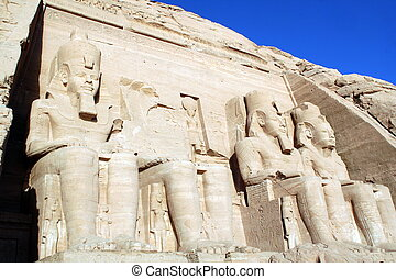 Abu Simbel, Egypt - view of Temple of King Ramses II in Abu...