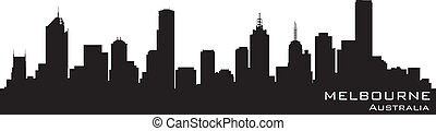 Melbourne, Australia skyline Detailed vector silhouette